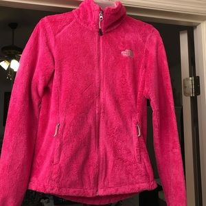 comment any offers/Pink North Face Fleece Jacket